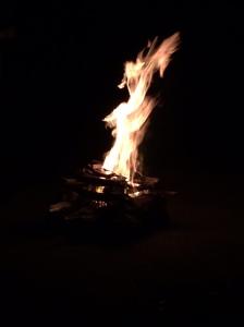 Last campfire for Iluka Shoreham - May 2015